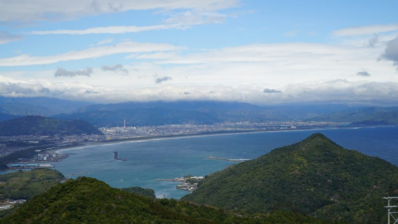 遠見山展望台 延岡市を一望