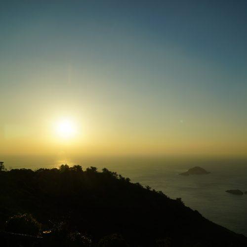 遠見山展望台 太平洋が一望でき、ビロウ島などの島々が眼下に広がっています